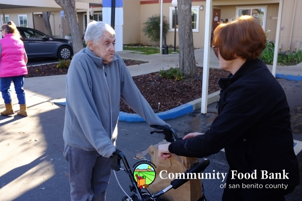 Food distribution for community seniors