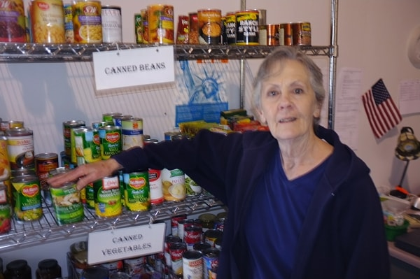 Community Food Bank's volunteer, Nancy Takaoka