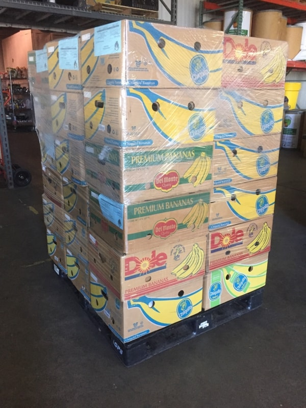 Pallet of food bag refills for Backpack Program