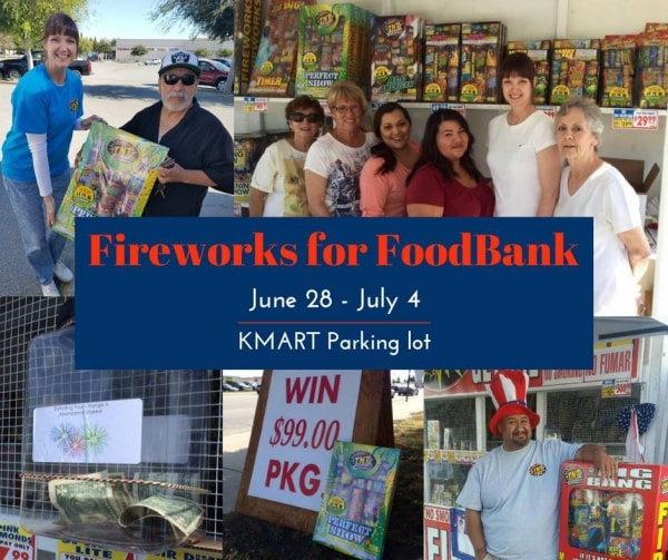 Food Bank of San Benito County operates a fireworks booth in Hollister