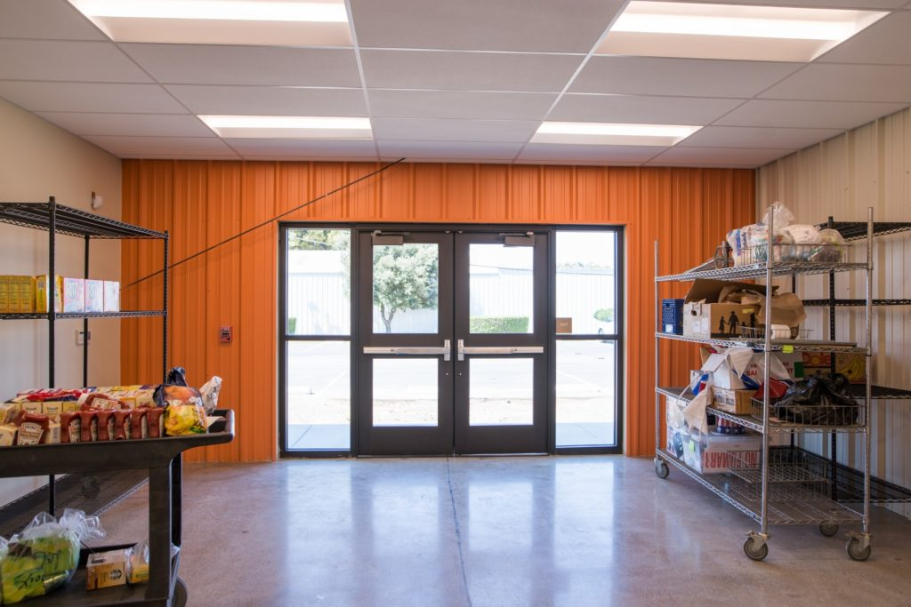 View of food bank's agency store