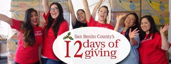 12 Days of Giving fundraiser campaign benefits San Benito County critical nonprofit organizations