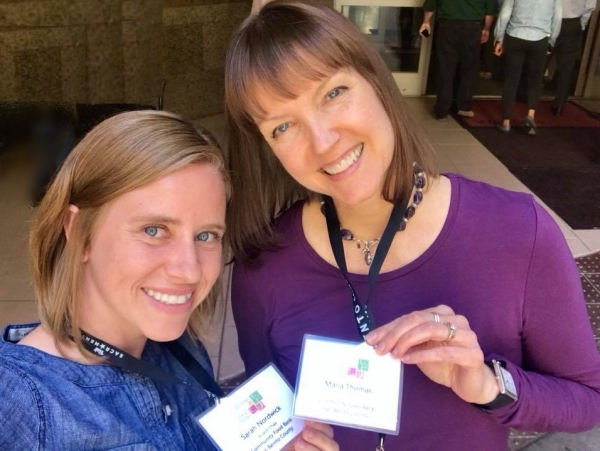 Sarah Nordwick and MAria Thomas pictured at Rural and Remote Food Bank Conference