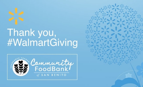 Walmart Giving awards grant to Community Food Bank of San Benito County