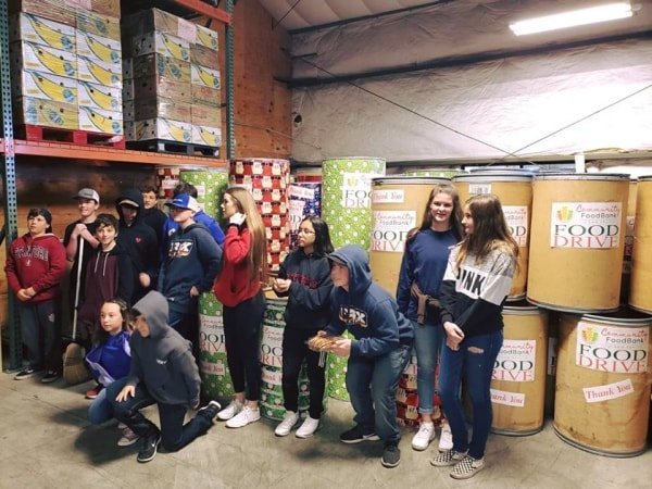 Local youth from 4-H volunteer at Food Bank of San Benito County