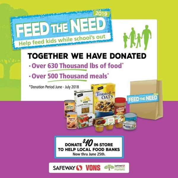 Poster for Feed the Need food drive by Safeway