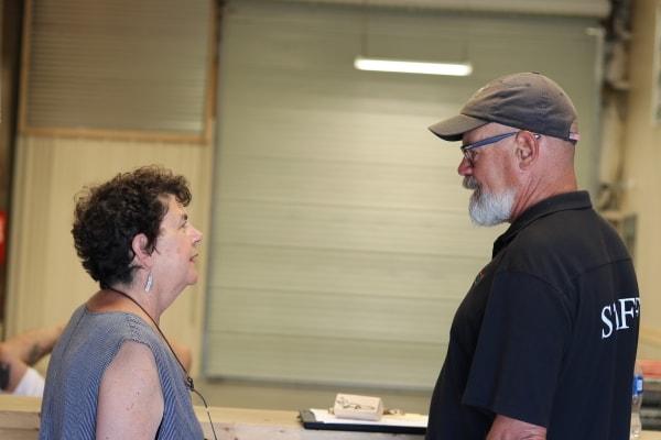 Mary Paxton and Mark Paxton at Community FoodBank of San Benito County