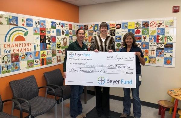 Presentation of grant check at Food Bank of San Benito County