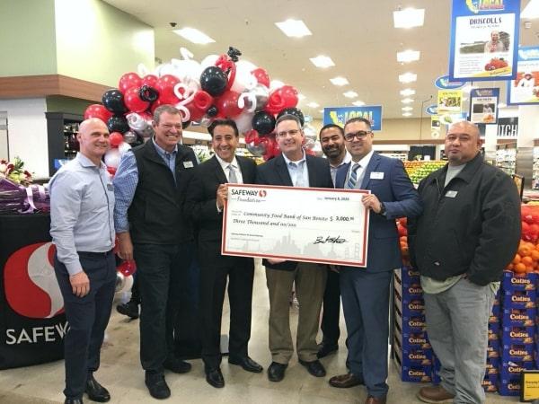 Safeway Foundation grant presentation to Community Food Bank of San Benito County